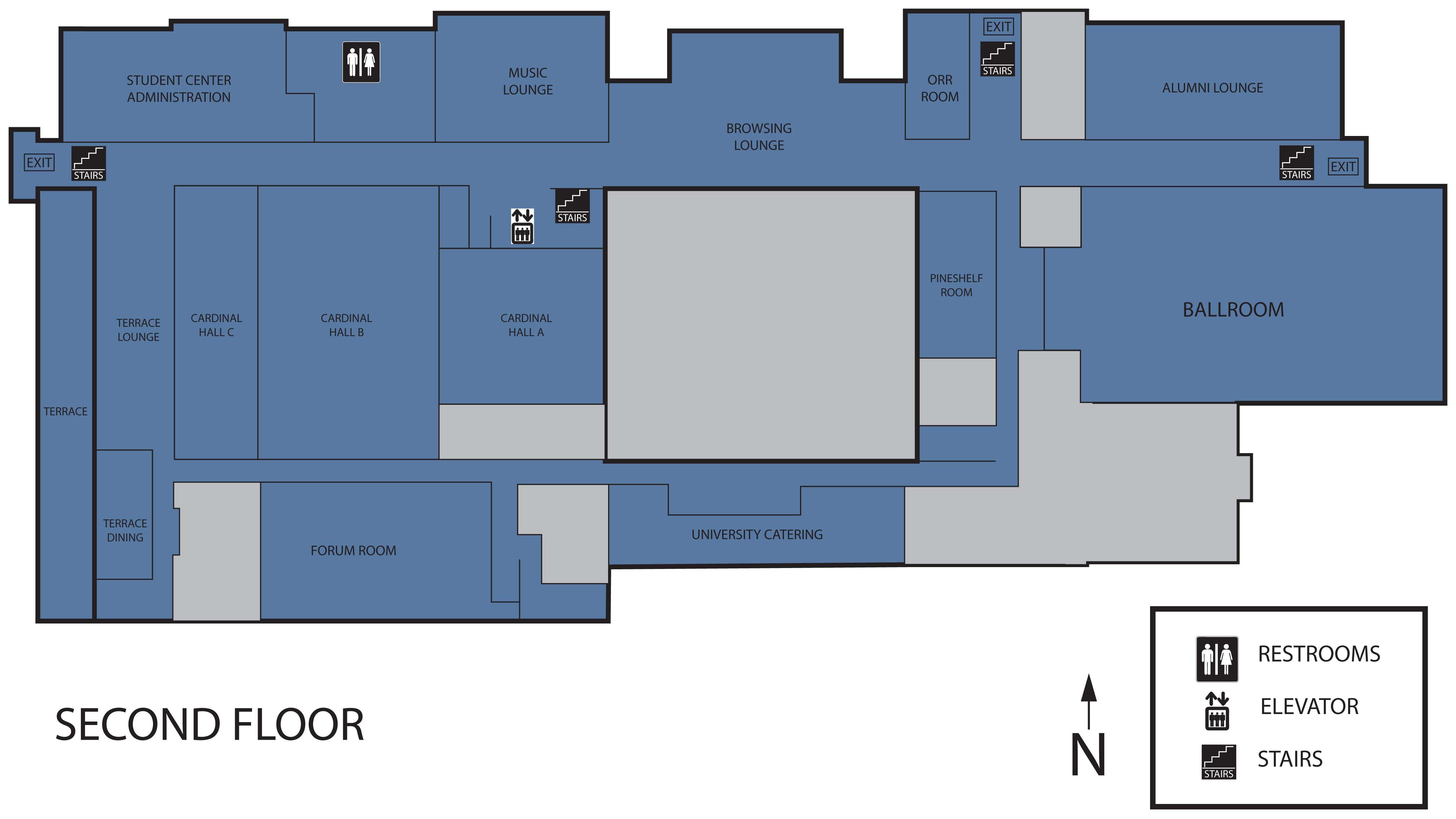 Floor plan student center ball state university ball for Floor plan layout design
