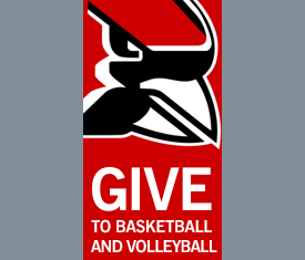 Give to Basketball and Volleyball