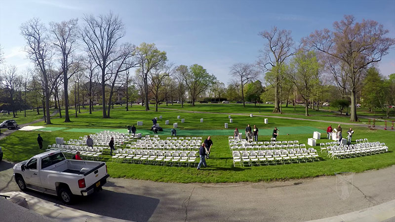 Spring Commencement Setup