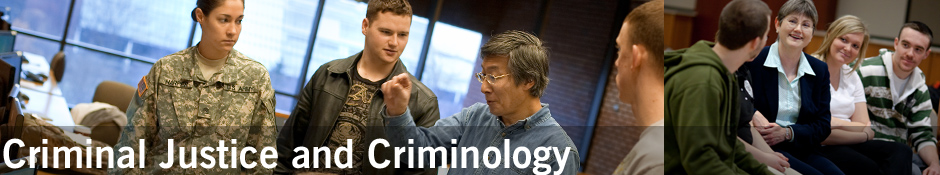 Criminal Justice and Criminology Banner