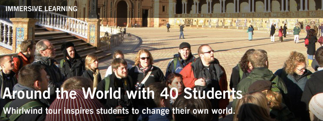 Around the World with 40 Students