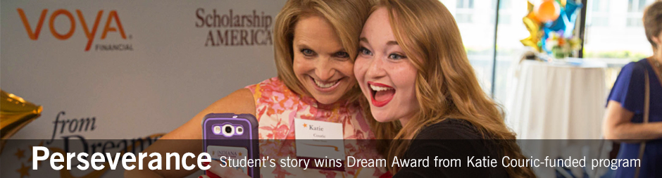 Student's story wins Dream Award from Katie Couric-funded program