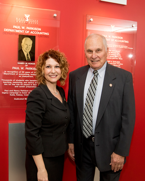 Paul W. Parkison with Dean Jennifer Bott