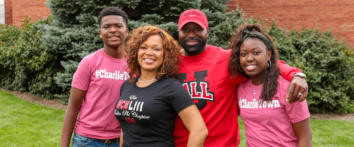 An alumni family at Charlietown