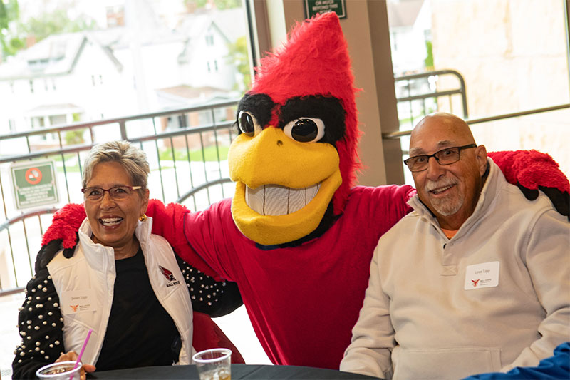 Charlie Cardinal with Alumn