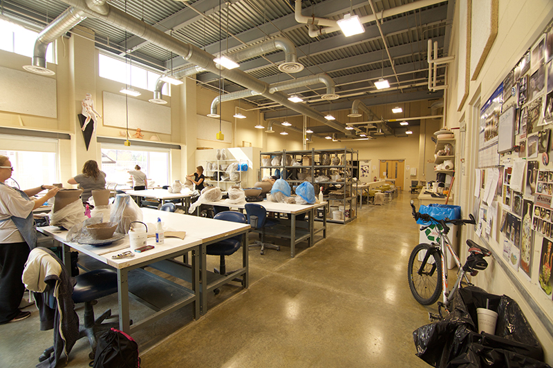 a look inside the Ball State ceramics studio