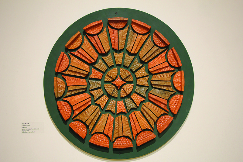 relief artwork of a plate