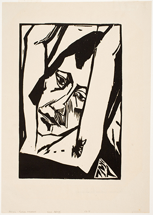 image of 'head of a young woman' by erich heckel