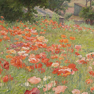detail of painting In Poppyland by J. Ottis Adams