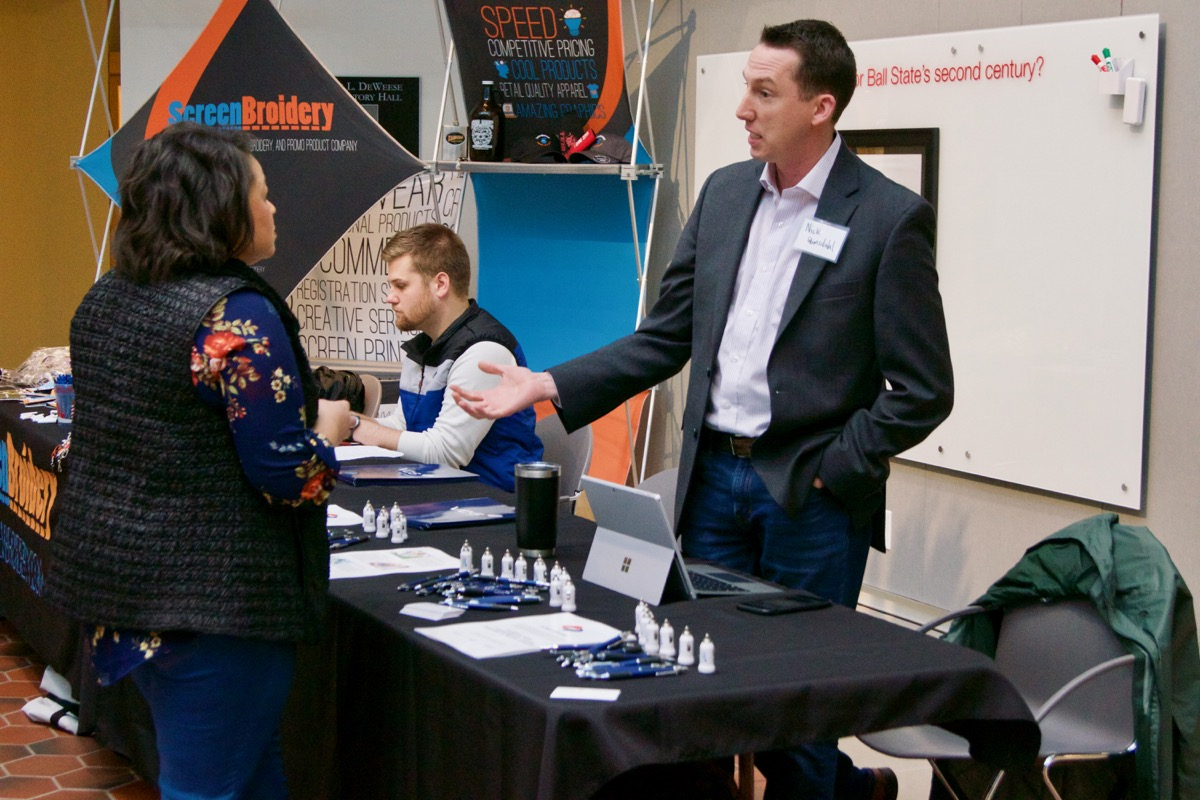 Companies engaging with summit attendees.