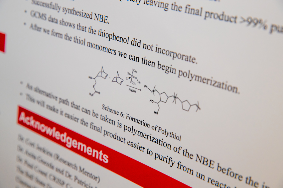 chemical equation on a poster