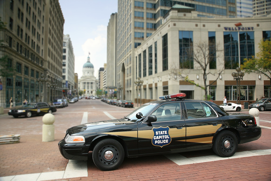 Indiana State Capitol Police, photo c. Schwen, 2008