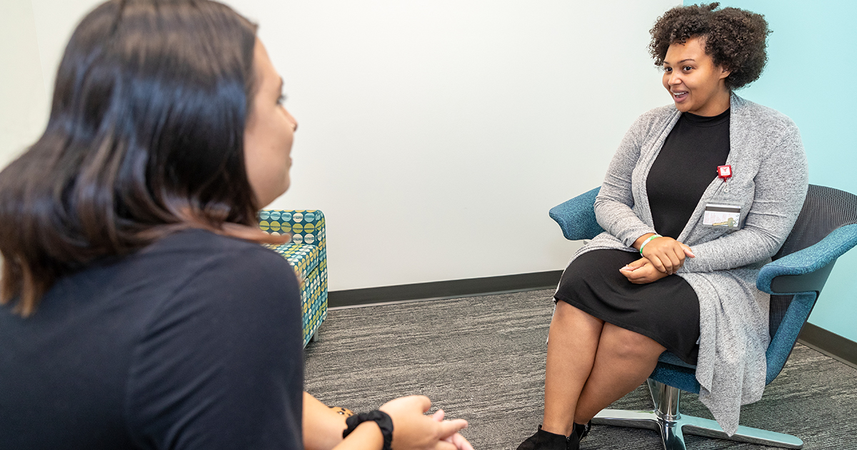 A counseling session in the Counseling Practicum Clinic