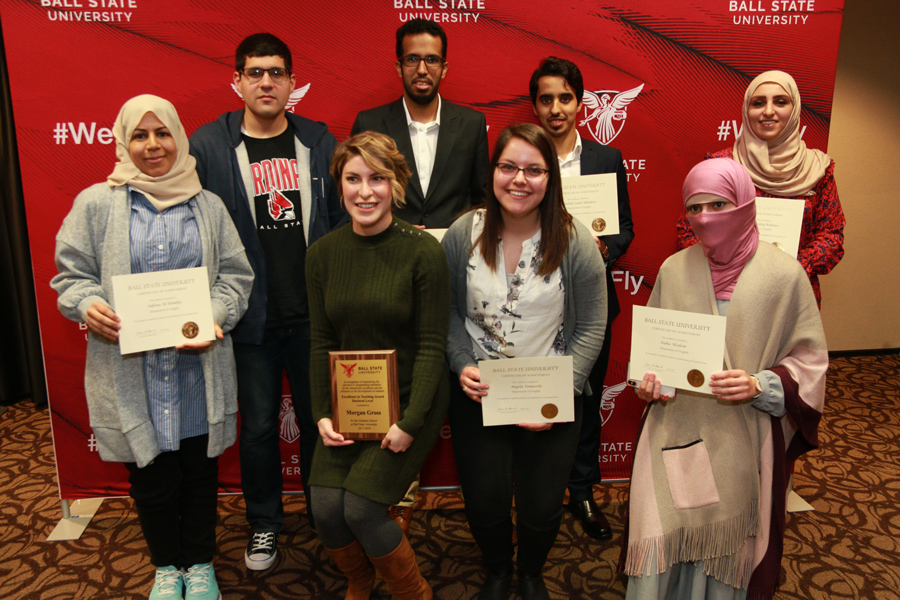 graduate students receive awards