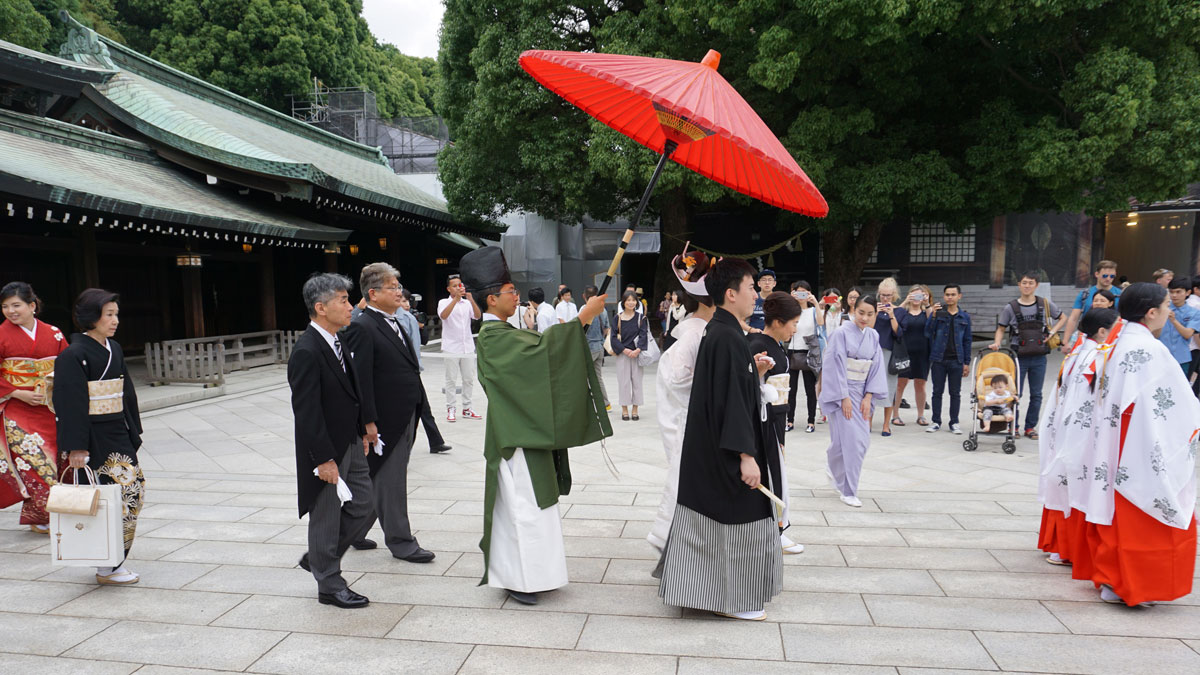 Japanese wedding procession