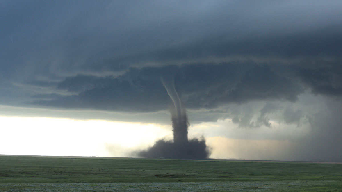 photo of landspout