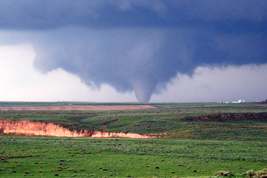 photo of a tornado in Colorado