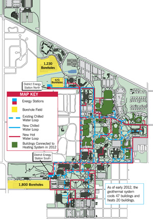 Geothermal campus map