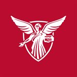 Ball State University red background social media avatar