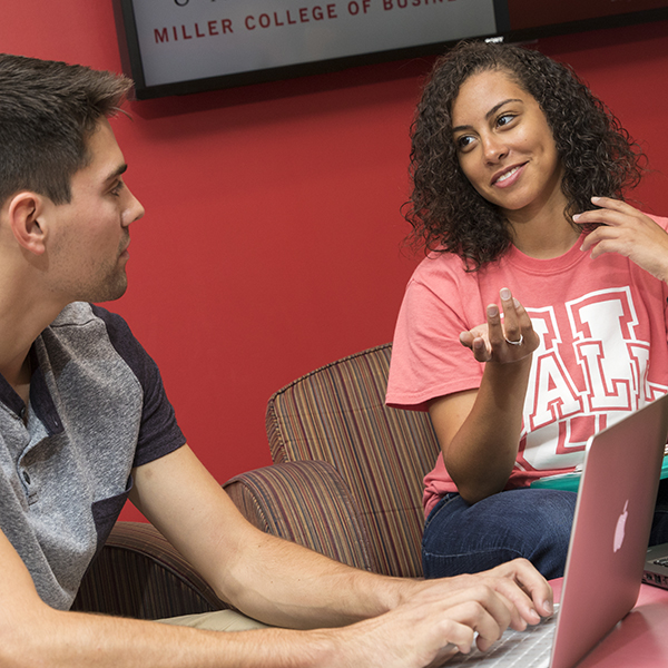Miller College of Business students