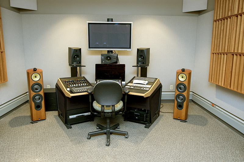 mixing and mastering booth inside studio 11