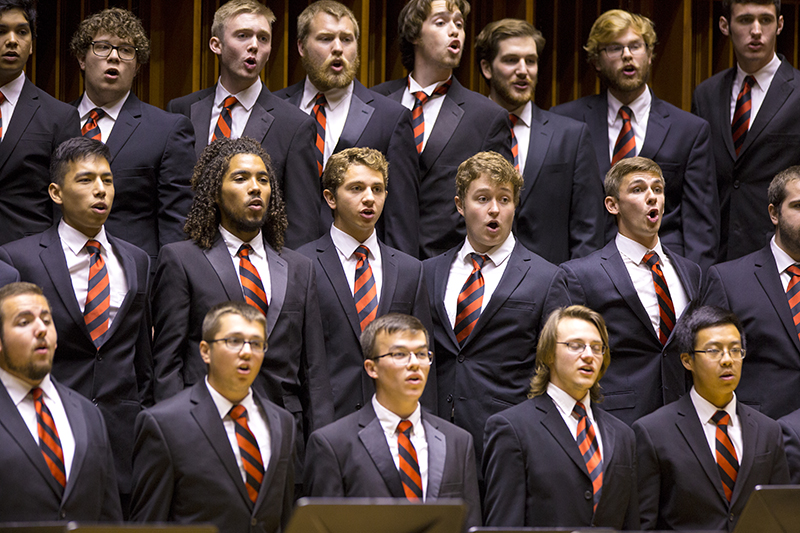 statesmen choir performing on stage