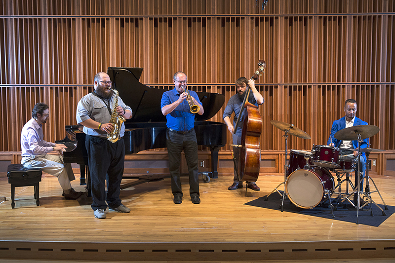 faculty jazz combo performing on stage