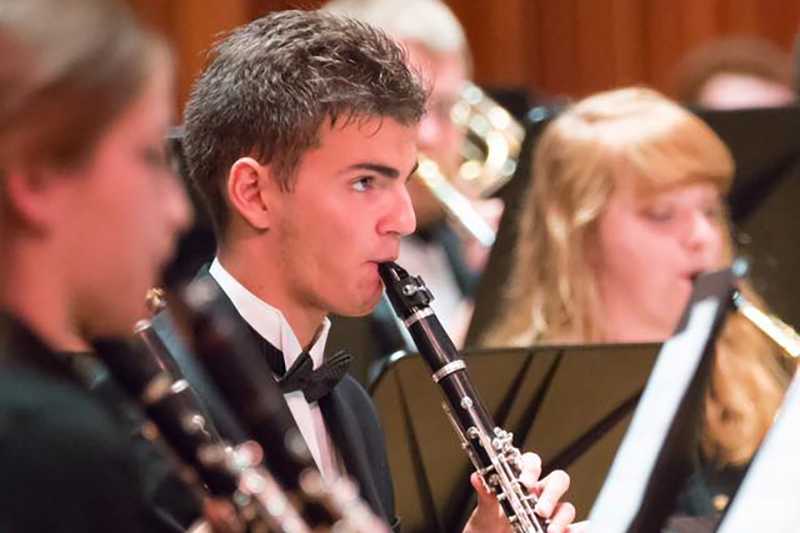 Ball State Honors Band performs on stage