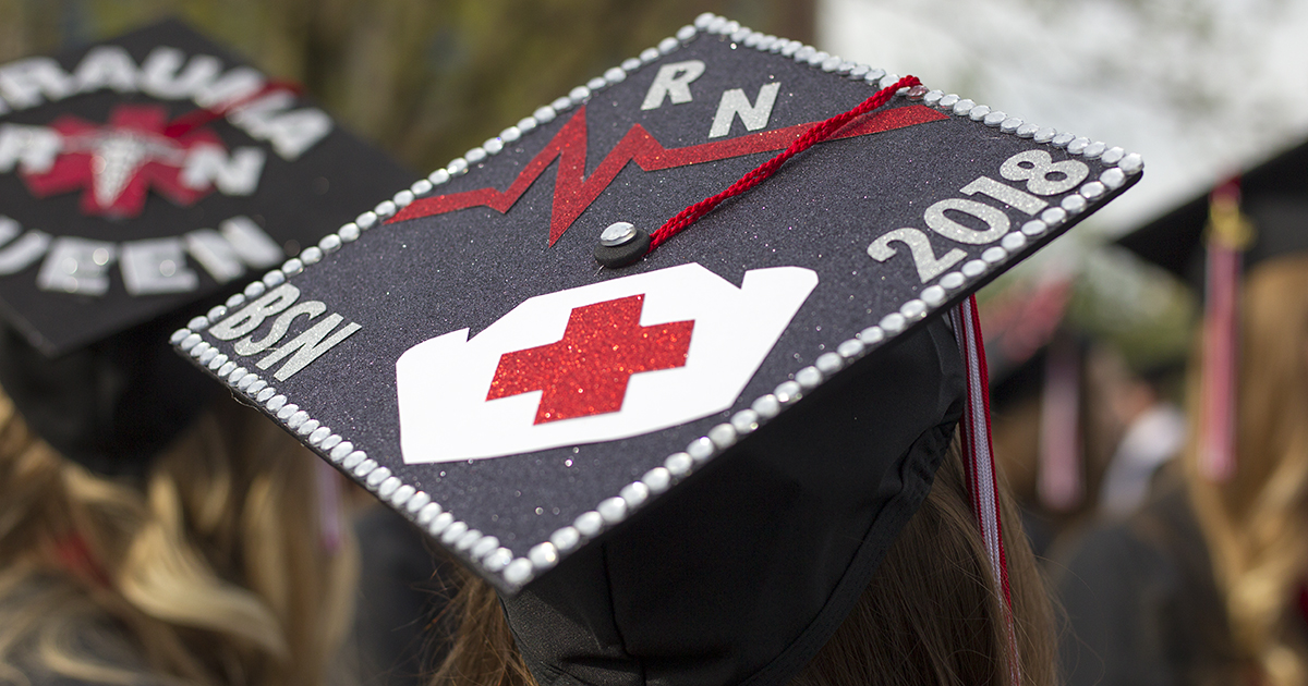 nursing student at commencement