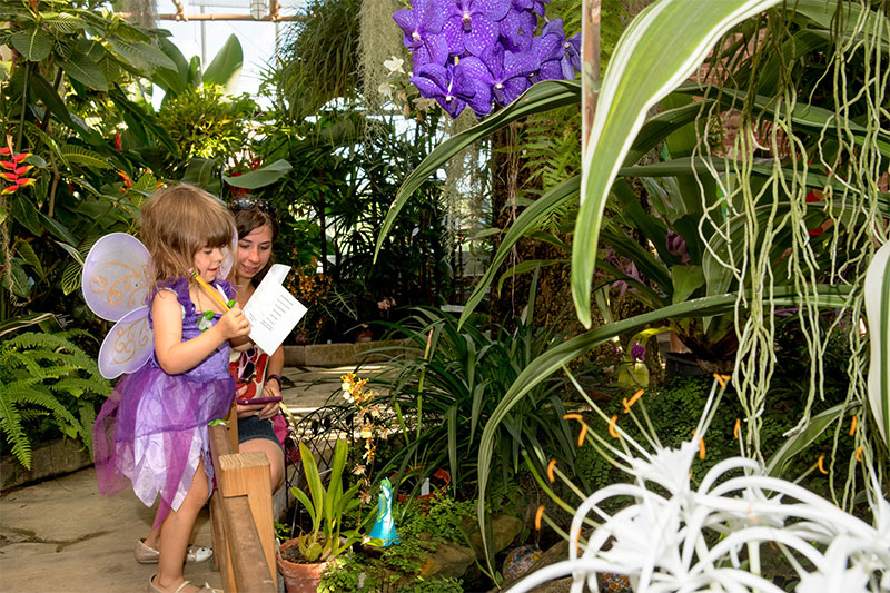 Child in Rinard Greenhouse