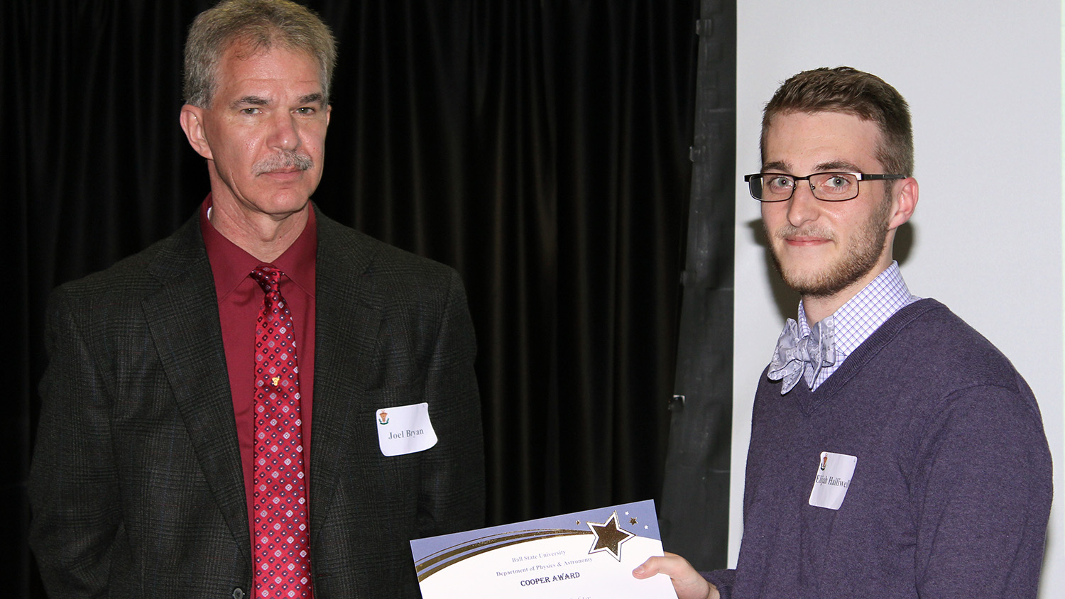Student receiving the Cooper Award
