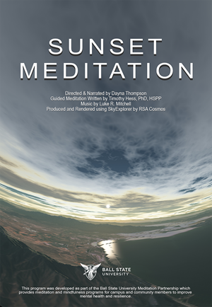 Sunset Meditation Poster