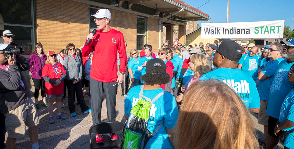 President Geoffrey S. Mearns at Walk Indiana