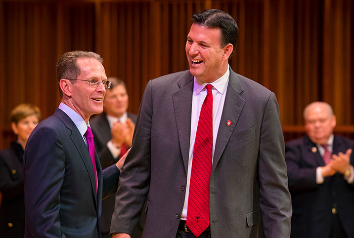 President Mearns with Rick Hall