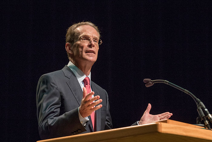 President Mearns at podium
