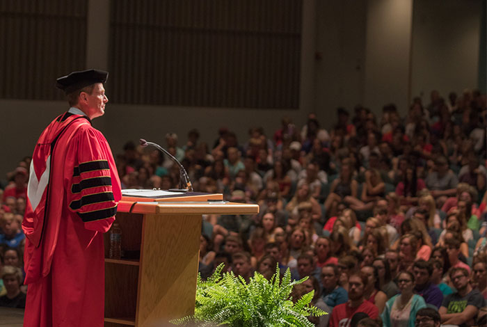 President Mearns Freshman Convocation