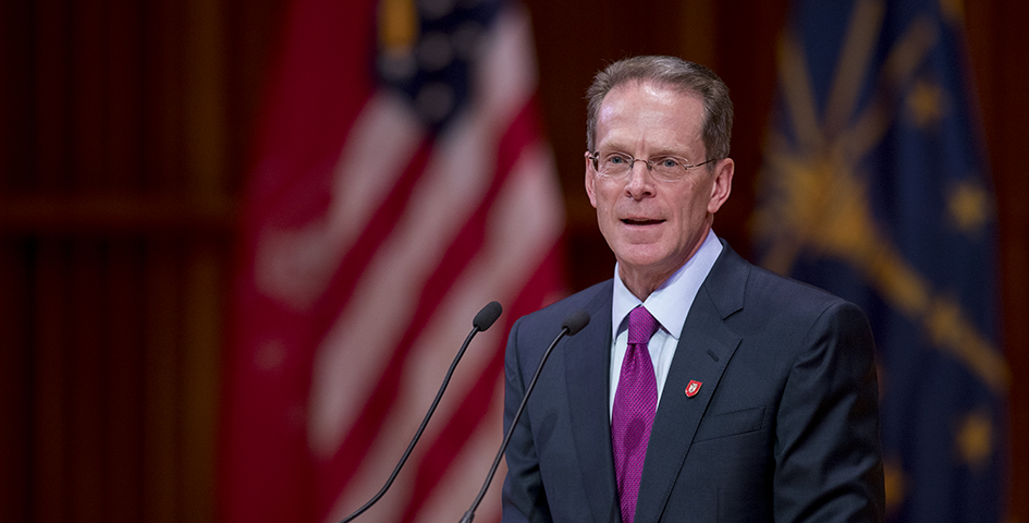 Incoming President Geoffrey Mearns