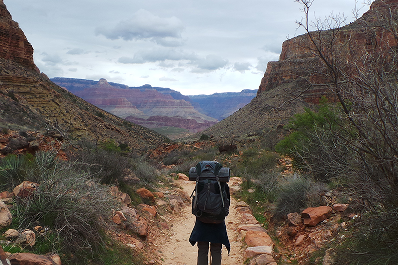 Hiker at the Grand Canyon