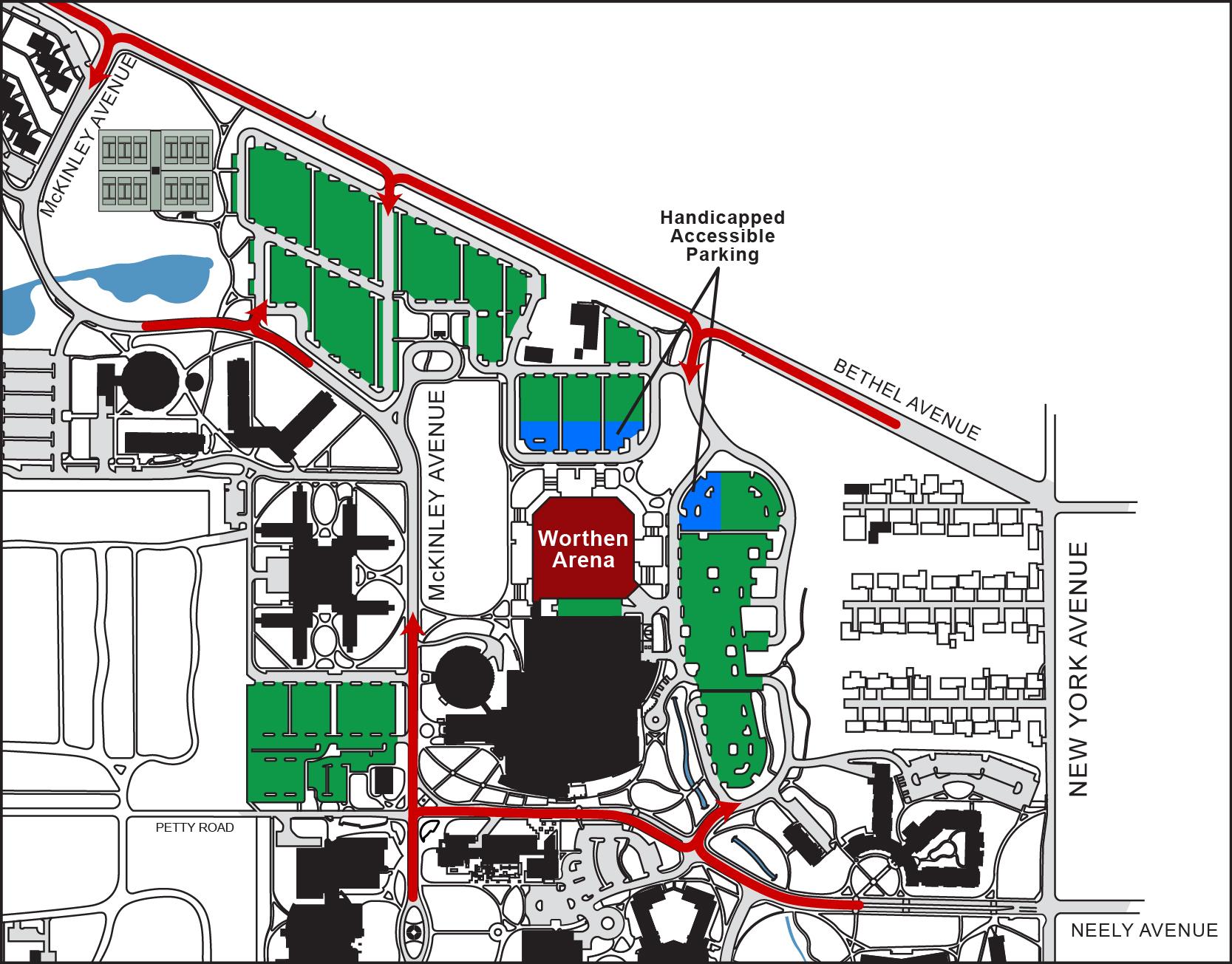 Ball State Parking Map ~ CVLN RP