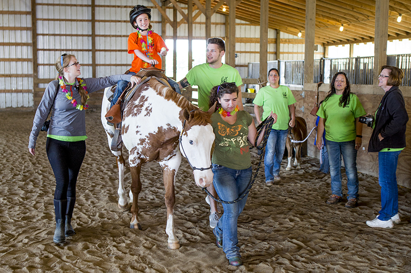 students at equestrian camp