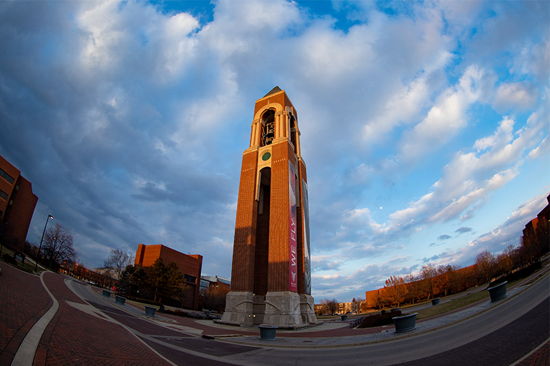 Shafer Tower at sunset