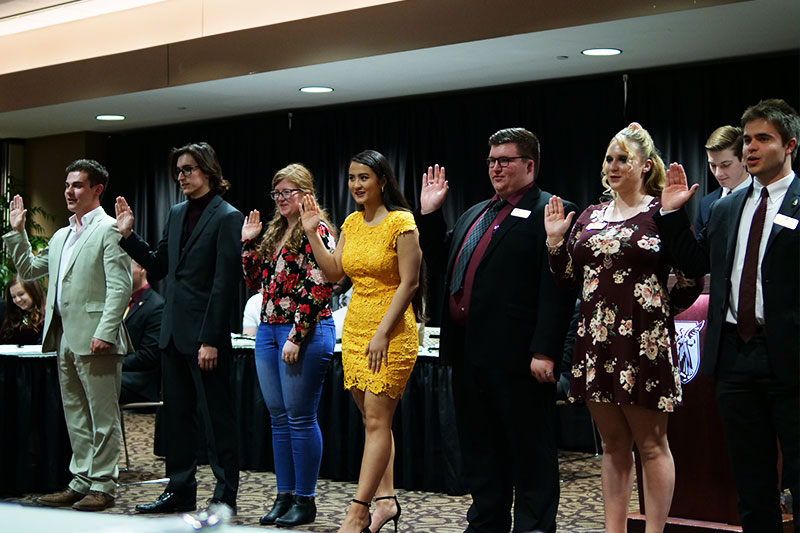 Student Government Officials sworn in