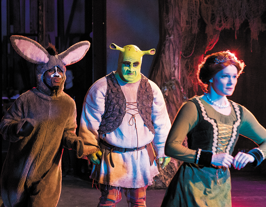 "actors performing ""Shrek: The Musical"""