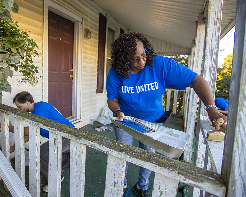 United Way Day of Action volunteers