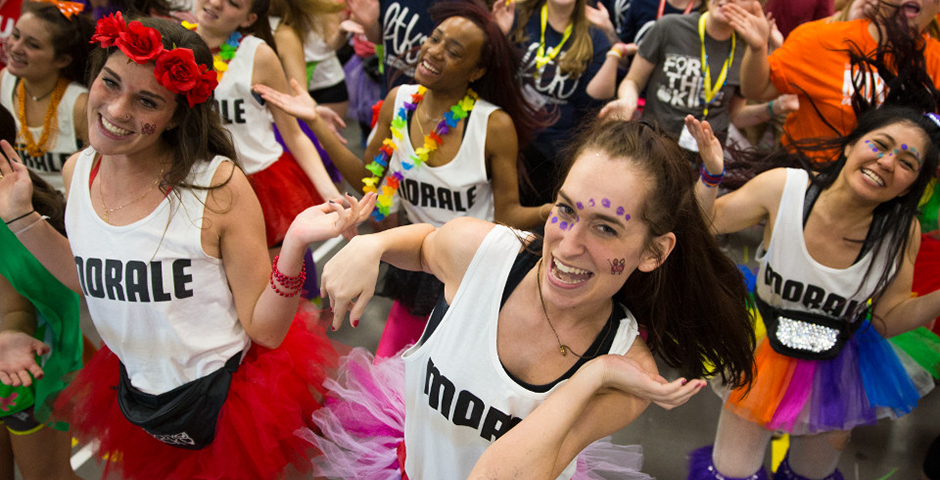 students participating in Dance Marathon