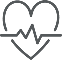 icon of a heart monitor