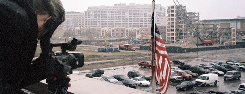 Filming the demolition of Cabrini Green for the documentary 70acresinchicago