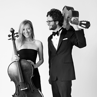 Guitarist Rupert Boyd and cellist Laura Metcalf