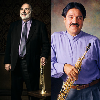Trumpeter Vince DiMartino and saxophonist Chris Vadala