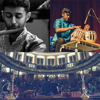 Indian classical musicians Praveen Prathapan and Janan Sathiendran